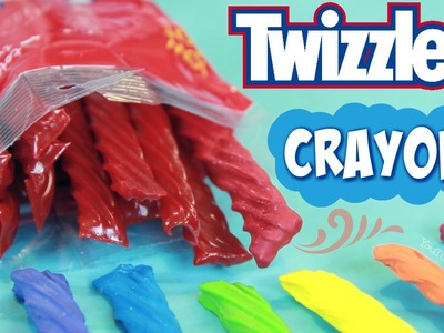 DIY Twizzlers Crayons. How to make a Candy Shaped Crayon