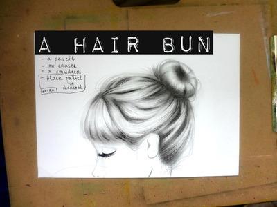 Draw Hair with a pencil  ¤ A BUN ¤