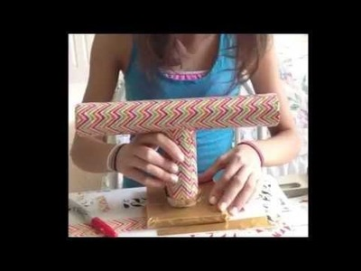 Duct tape bracelet holder tutorial