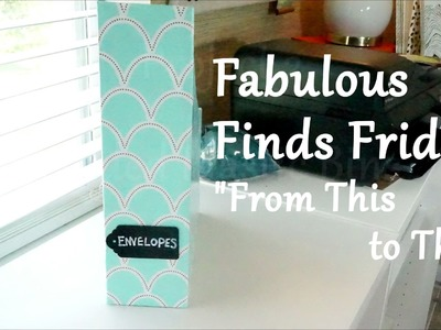 "Fabulous Finds Friday : "" From This to That"" - Dollar Tree Finds Makeover"