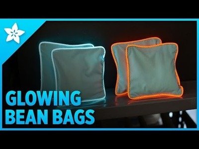Glowing Bean Bags with EL Wire
