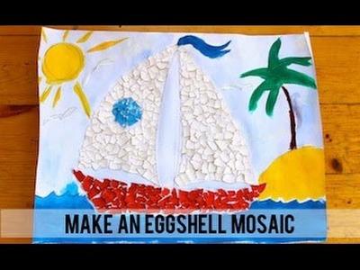 How to make an eggshell mosaic