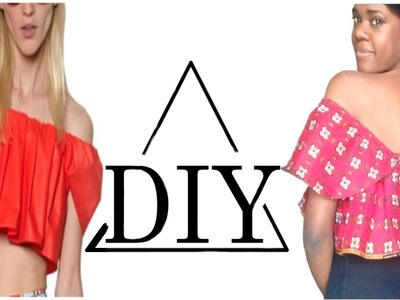 How to make an off the shoulder top ankara crop top