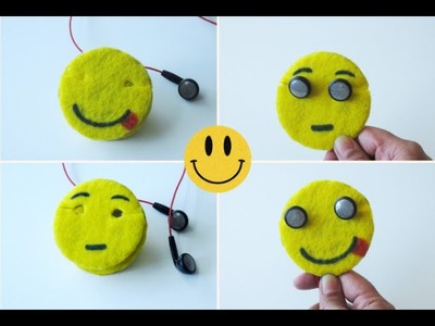 How To Make Emoji Earbuds Holder.Cord Keeper