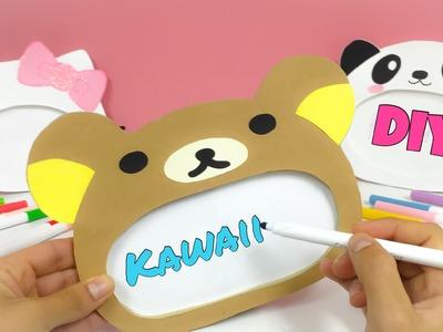 KAWAII CRAFTS:How to make Rilakkuma,Hello Kitty, and KAWAII panda bear