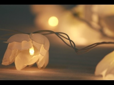 Make your own FLOWER LIGHTS