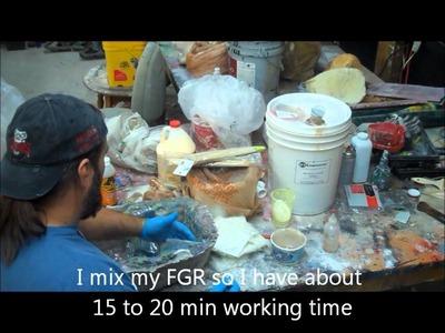 Making fiberglass wall sconces .wmv