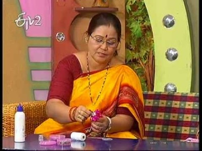 Making of Kundan Flowers by Kalpana.