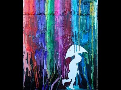 Melted Crayon Art #1
