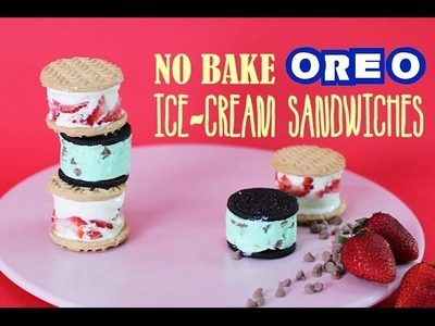 OREO IceCream Sandwich Recipe | Strawberry Shortcake & Mint Chip | My Cupcake Addiction