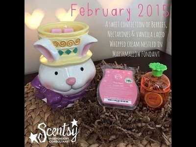 Scentsy February 2015 Scent & Warmer of the Month (Easter Bunny & Pink Haze)