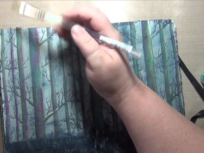 Trees Art Journal Page - Mixed Media - How To