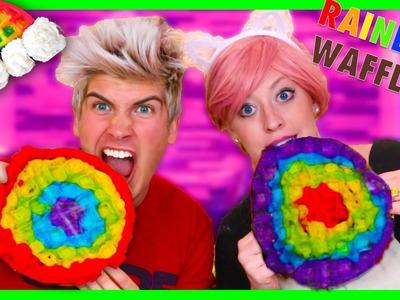VEGAN RAINBOW WAFFLE DIY!