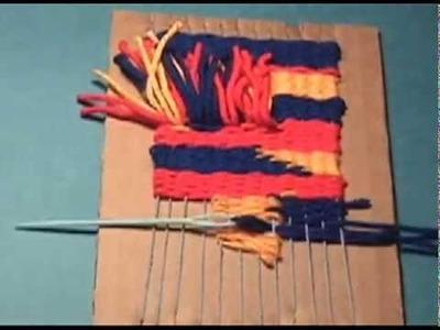 Weaving on a Cardboard Loom (version 2)