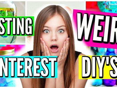 WEIRD DIYS YOU NEED TO TRY! Pinterest Science Experiments Tested!