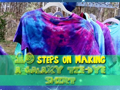 10 STEPS on making a GALAXY Tie-Dye Shirt - @dramaticparrot