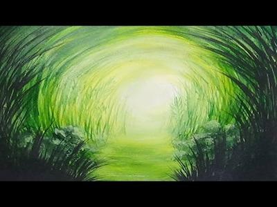 Acrylic Painting Speed Painting Grassy Path