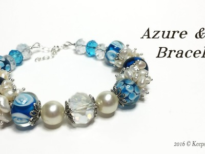 Azure & Ice Bracelet Tutorial