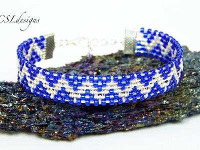 Beaded zig zag wirewoven bracelet