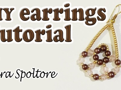 BeadsFriends: DIY earrings for beginners - Beaded earring tutorial - DIY jewelry