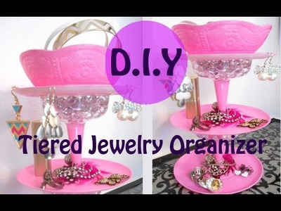 D.I.Y: Tiered Jewelry Stand-Super Cheap and Easy!