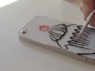 DIY : speed ink drawing on phone case | Cupcake
