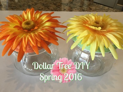 DOLLAR TREE DIY: Spring Jars | 2016