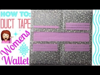 How to Make a Duct Tape Women's Wallet for Beginners!!