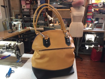 How To Make A Leather Bucket Tote Bag Part 1
