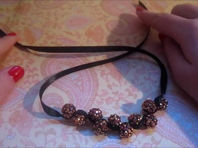 How to make a zig zag shamballa bracelet using ribbon. DIY #5