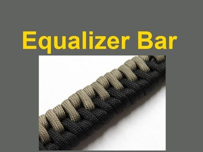 How to make an Equalizer Bar Paracord Bracelet Tutorial (Paracord 101)