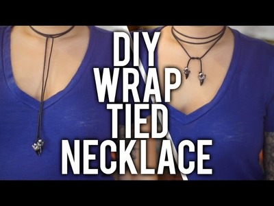 How to Make Wrap Tied Necklace : DIY