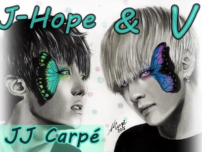 JHope & V. BTS (VHope) (Speed Drawing) By JJ Carpé