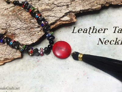 Leather Tassel Necklace Tutorial