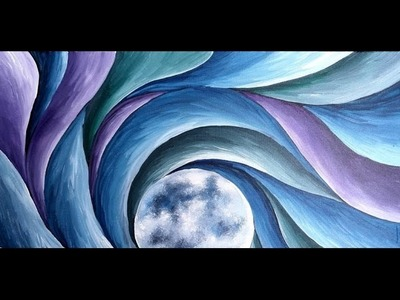 Luna Light Step by Step Acrylic Painting on Canvas for Beginners