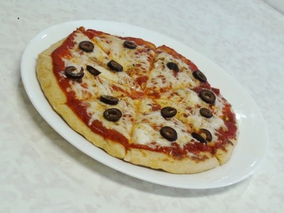 No Oven Pizza - Stove top Pizza - Video recipe by Bhavna