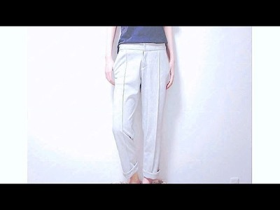 Sewing + DIY Zipper Fly Pants. Cigarette Trousers