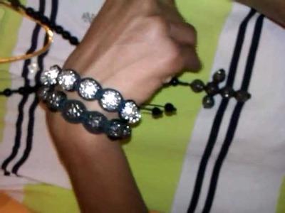 Shamballa bracelet, disco ball rosary , herringbone review HIPHOPBLING.com