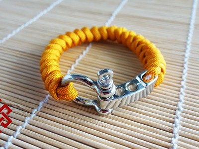 Snake Knot Adjustable Shackle Paracord Bracelet Tutorial