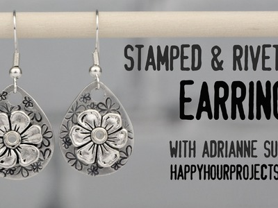 Stamped & Riveted Floral Earrings