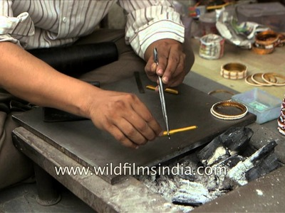 The making of India's famous 'Lac Bangles'