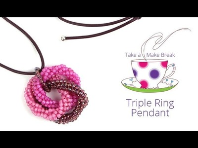 Triple Ring Pendant | Take a Make Break with Sarah