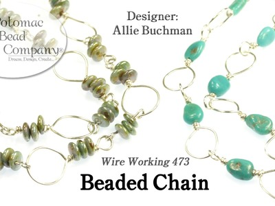 Wire Beaded Chain Necklaces
