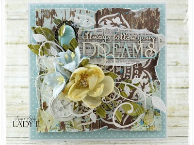 Always Follow Your Dream - Mixed Media Card Tutorial MME Scrapiniec