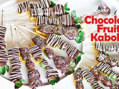 Chocolate Fruit Kabobs - Valentine's Day