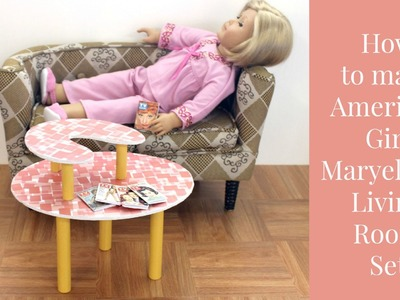 DIY American Girl Doll Maryellen's Living Room Set