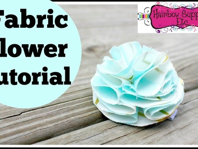 Fabric Flower Tutorial - DIY No Sew - Hairbow Supplies, Etc.
