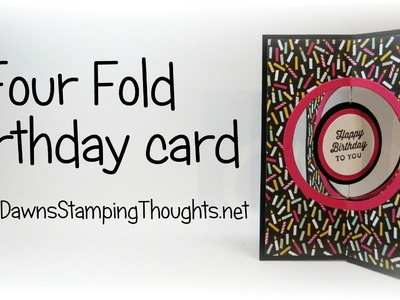 Four Fold Birthday card with Stampin'Up! products