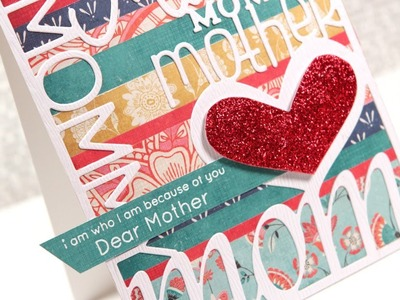 Friday Focus - Die Cutting #3 (Easy & Glittery Mother's Day Card)