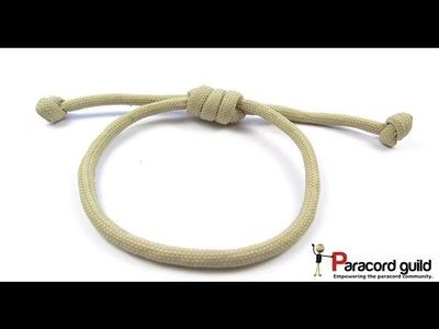 Hangman's noose paracord bracelet.hair strap